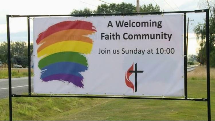 Battle Ground church sign
