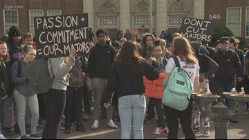 Benson High School architecture students protest potential end of program