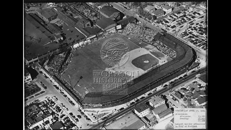 Opening Day for the Portland Beavers at the Vaughn Street Park, 1951