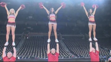 Blazers opener: Drew Carney and the Blazers Stunt Team