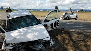 Two drivers, including sheriff's deputy, seriously injured in Washington County crash