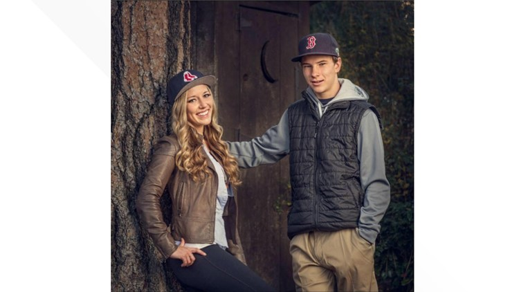 Kaylee Sawyer and one of her brothers