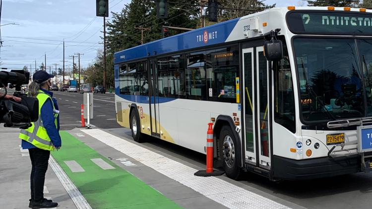 Two new bike-friendly bus stops are the first of many to come on Division Street