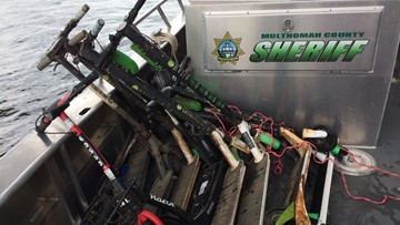 E-scooters found in the bottom of the Willamette River