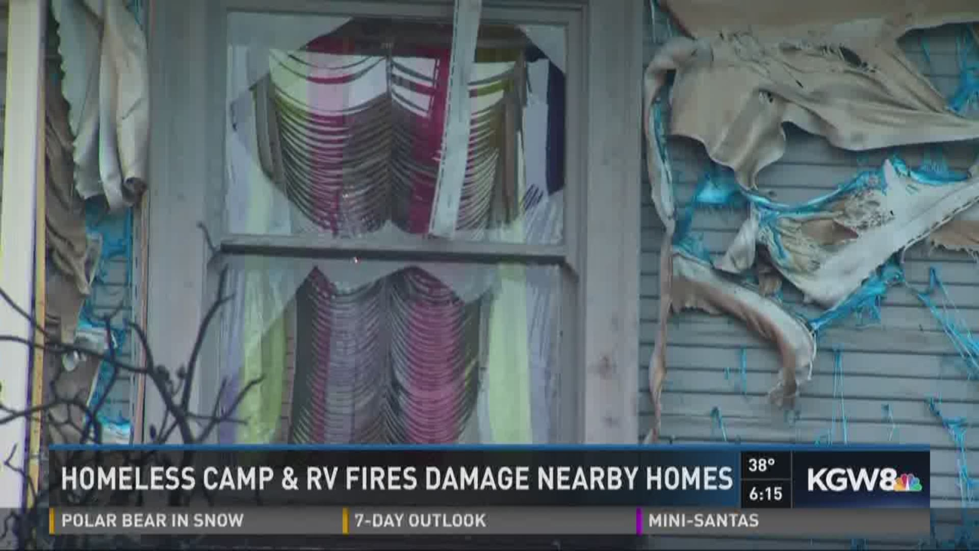 Two Portland Homeless Campfires Get Out Of Control Kgw Com