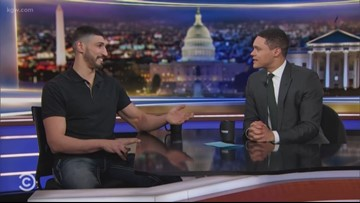 WATCH: Enes Kanter talks Blazers, 'Jersey Shore' and feud with Turkey on 'The Daily Show'