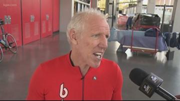Blazers fans join Bill Walton on bike ride