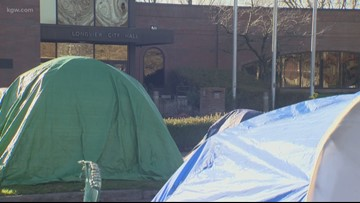 Homeless camp outside Longview City Hall prompts historic ban