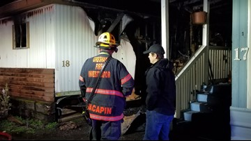 One person injured in Gresham mobile home fire