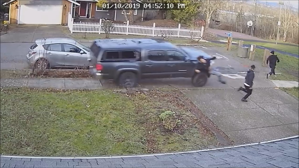 Video shows pickup truck running down three people in NE Portland