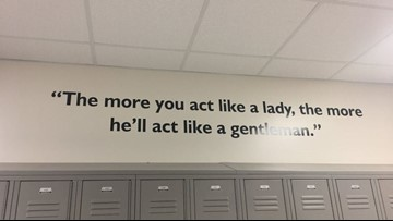 'Misogynistic' quote above HISD middle school lockers goes viral