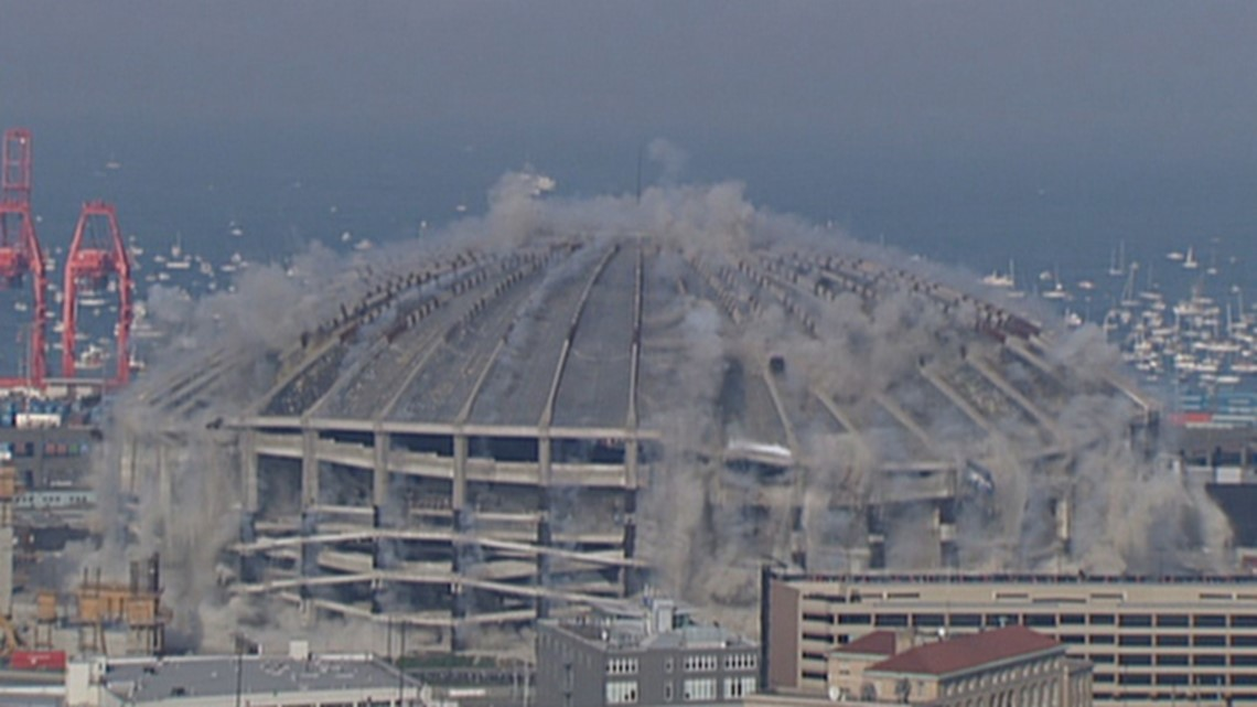 Watch: The implosion of Seattle's Kingdome was 20 years ago today
