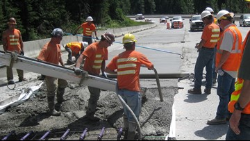 2-year I-90 lane closures from Issaquah to North Bend
