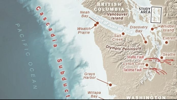 Scientists study Washington tsunami risk by digging into the past