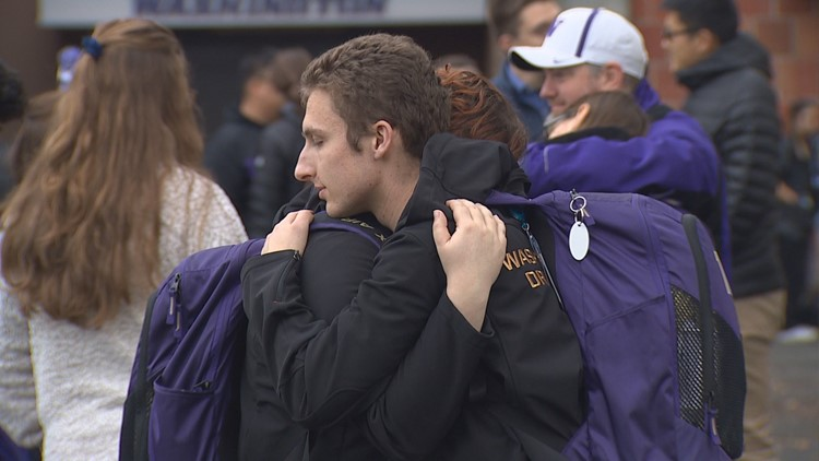 UW marching band returns to Seattle after bus crash