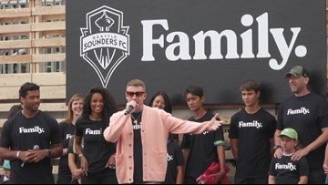 Ciara, Russell Wilson and Macklemore celebrate Seattle Sounders FC ownership