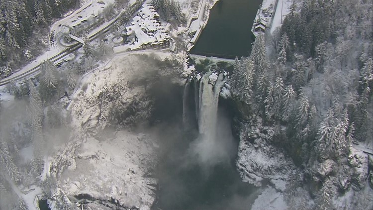 Snowy Snoqualmie Falls