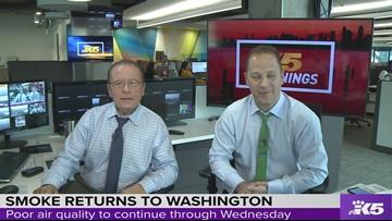Meteorologist Rich Marriott's smoke forecast for Western Washington
