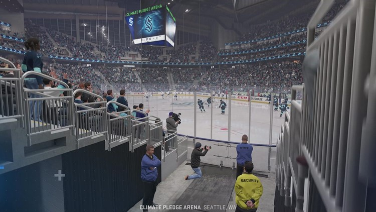Sneak peek at EA Sports' new video game featuring Seattle Kraken, Climate Pledge Arena