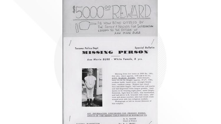 Ann Marie Burr missing poster