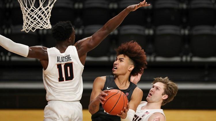 Oregon State holds off Washington State 68-66