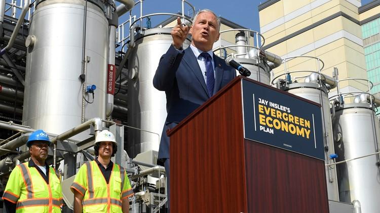 Gov. Inslee touts $9 trillion climate plan as economic boom