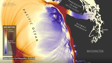 Simulation shows what would happen when a tsunami hits Washington state