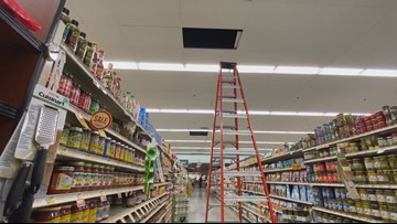Mystery in the rafters: Man hiding for weeks in Washington grocery store seen stealing on camera