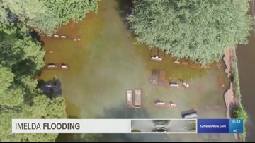 Coffins seen floating in Texas cemetery after Imelda flooding