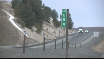 Mile marker 69 signs keep getting stolen in Washington. Now there's 68.9 instead