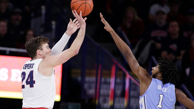 Gonzaga falls to No. 2 on AP Top 25 poll after 4 weeks at the top
