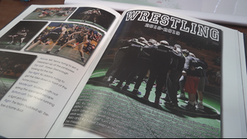 Female wrestler's name, photo left off Washington high school's yearbook page