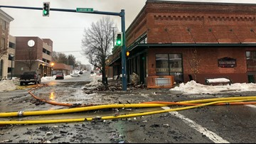 At least 5 businesses destroyed in downtown Coeur d'Alene fire