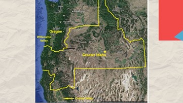 Oregon man wants to combine parts of Oregon, California and Idaho to create new state