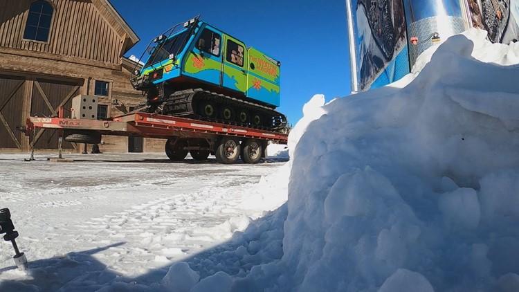 Zoinks! Scooby-Doo's Mystery Machine hits ski slopes