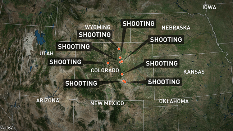 8 officer-involved shootings reported in Colorado over 7 days