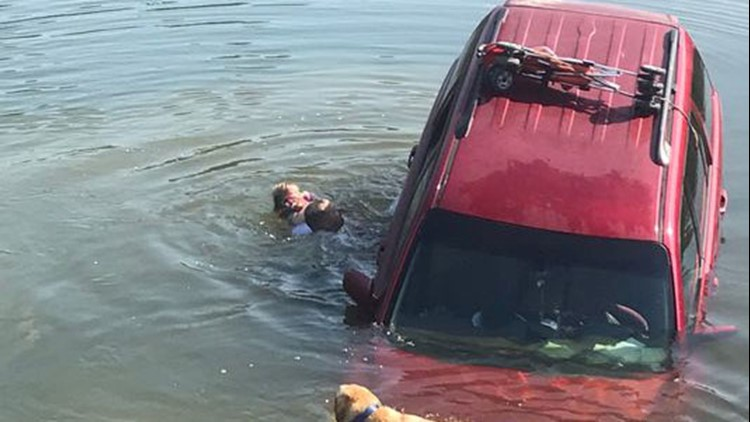 Baby rescued from sinking SUV Arkansas