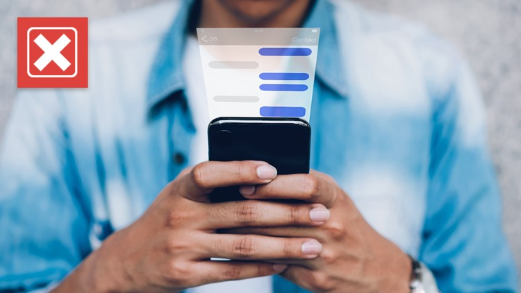 No, your SMS text messages are not being monitored for misinformation