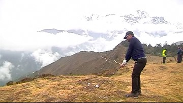 Golfers Tee Off in the Shadow of Mt. Everest for World's Highest Altitude Golf Tournament