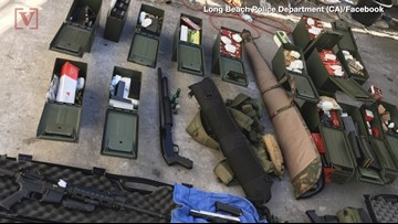 Police Show Huge Arsenal  of High-Powered Weapons Man Allegedly Was Plotting To Use For Mass Shooting At a Hotel