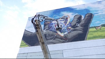 Mural Painted on the Side of Chernobyl Building to 'Look in the Future'