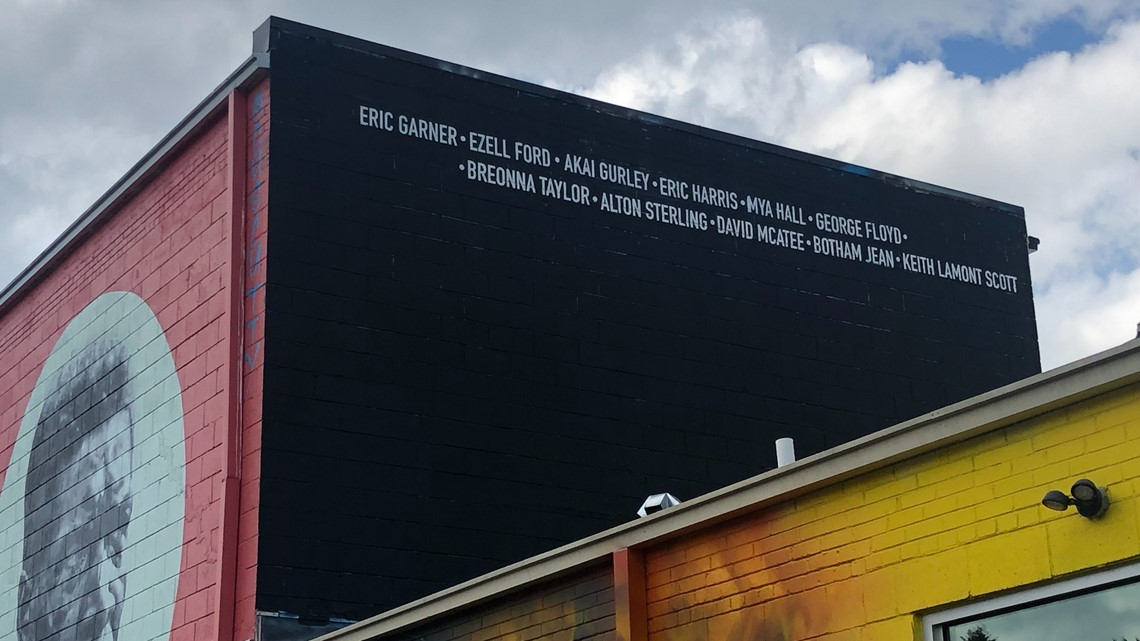 Charlotte Artist Alex Delarge Creates Black Lives Matter Mural Kgw Com