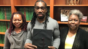 He spent 5 years on death row for a murder he didn't commit. Now he's graduating from college.