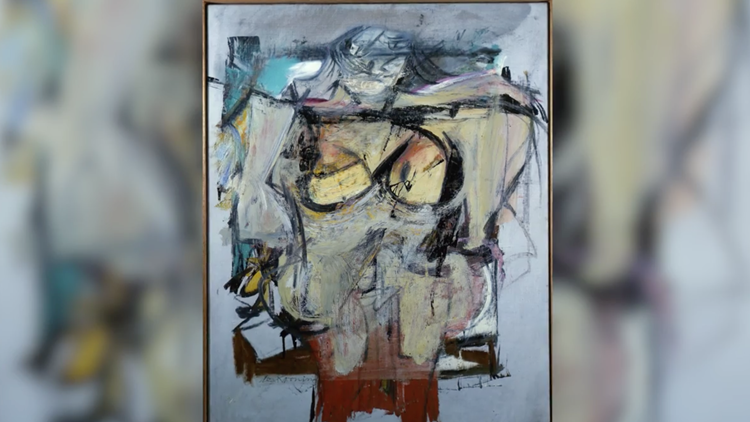Woman Ochre, an abstract expressionist work of a nude woman created by Willem de Kooning in the mid-1950s.