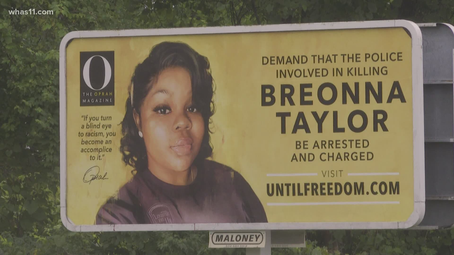 Breonna Taylor Billboard Vandalized With Red Paint Later Fixed Kgw Com