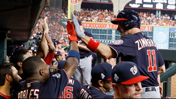Nationals win first-ever World Series game, 5-4 against Astros