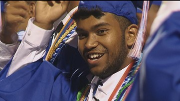 He lost his father, then his mother, then their home. This week he graduated high school