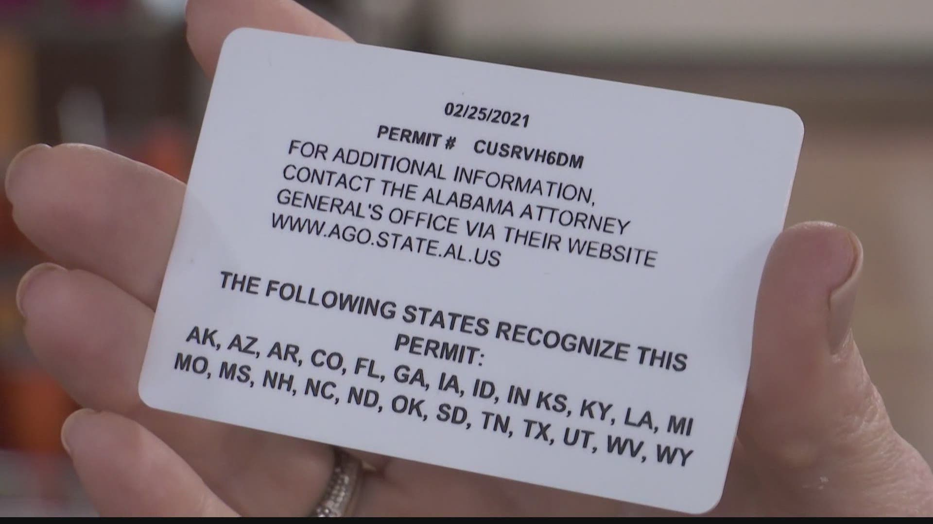Permitless Concealed Carry Possible In Alabama Under New Bill Kgw Com